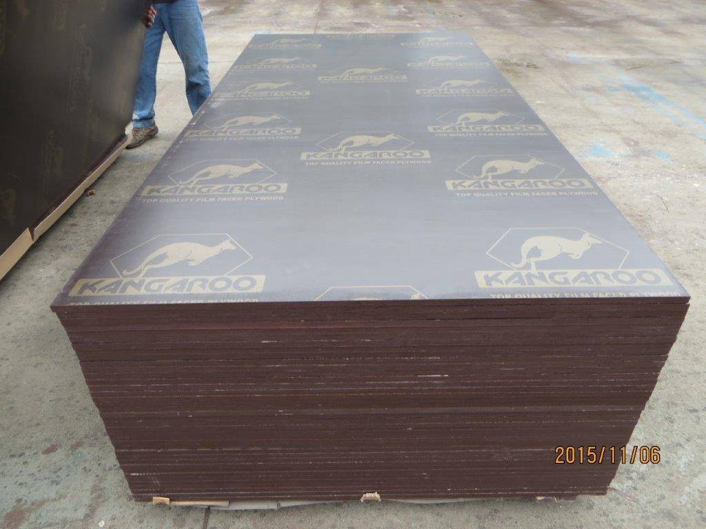 KANGAROO' BRAND FILM FACED PLYWOOD, POPLAR CORE, WBP MELAMINE GLUE