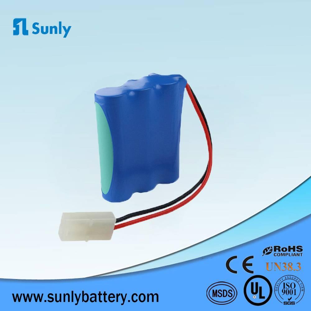 3S1P li ion battery 18650 11.1V 2200mAh lithium ion battery