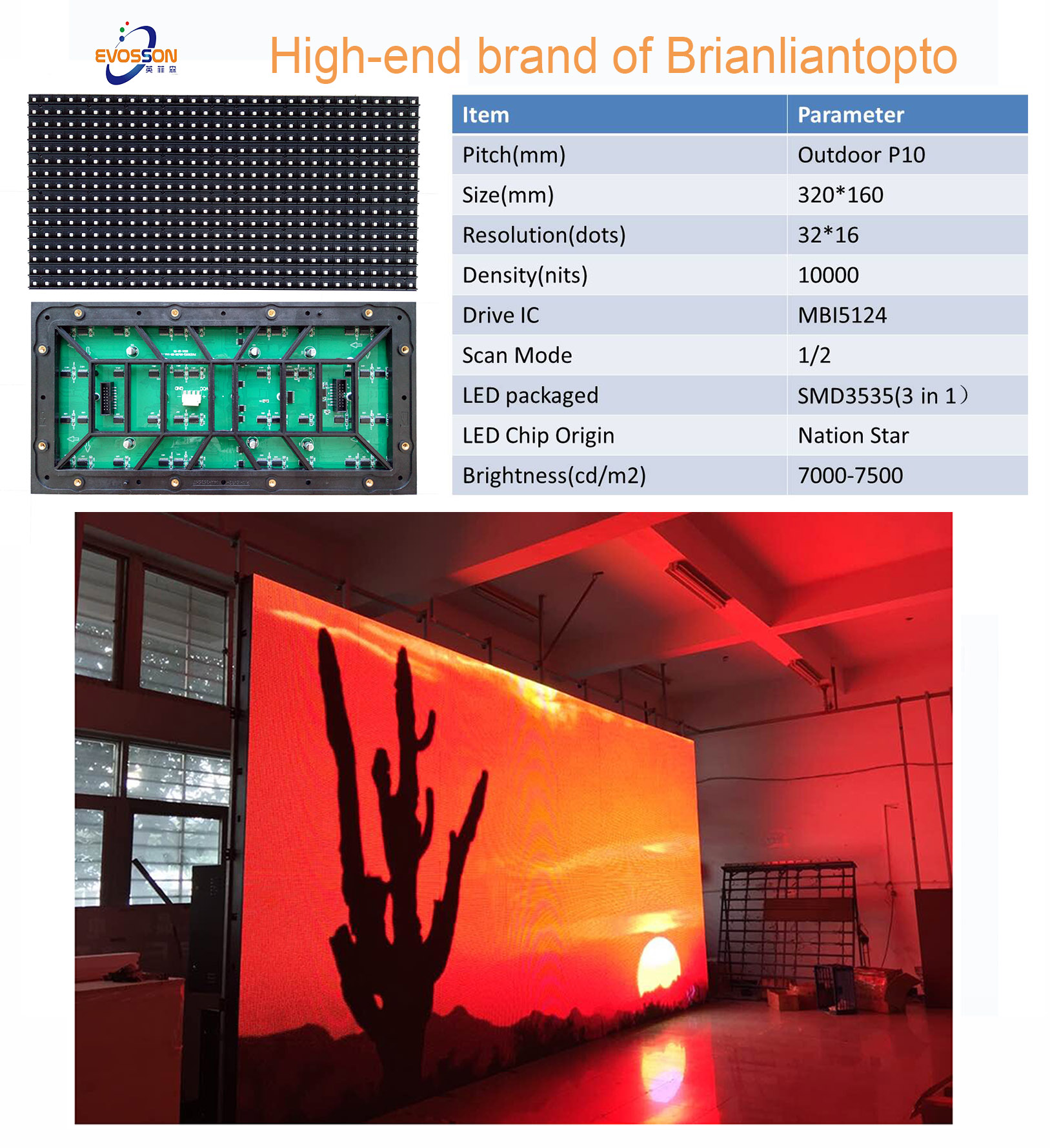 Outdoor SMD RGB P10 Advertising LED Display Screen