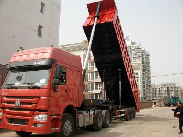 Heavy rear dump truck