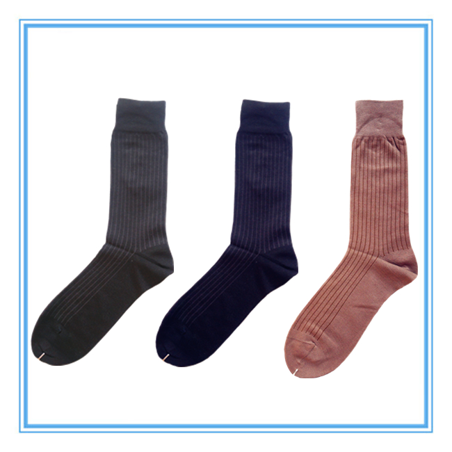 Men's Jacquard Mercerized Cotton Socks