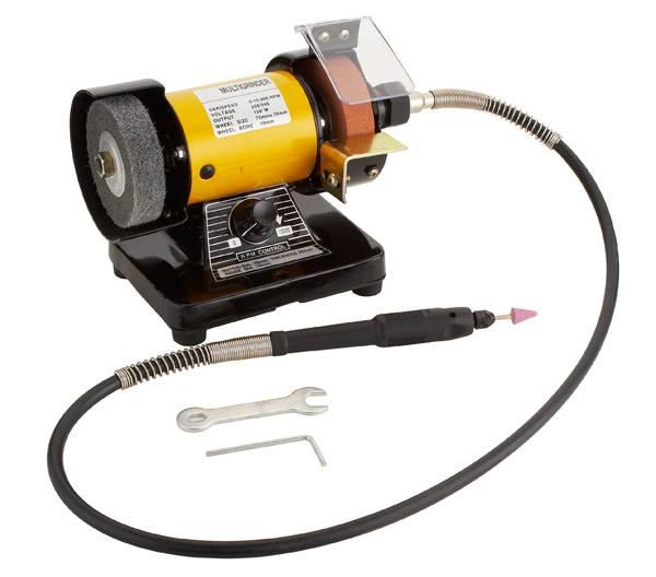 """TOLHIT 75mm (3"""") Multipurpose Mini Bench Grinder with flex shaft/Mini grinder"""