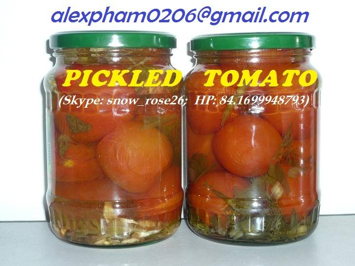 PICKLED TOMATO/ TOMATO IN OWN JUICE/ PEELED TOMATO/ CHERRY TOMATO/ TOMATO PASTE/MIX TOMATO & GHERKIN