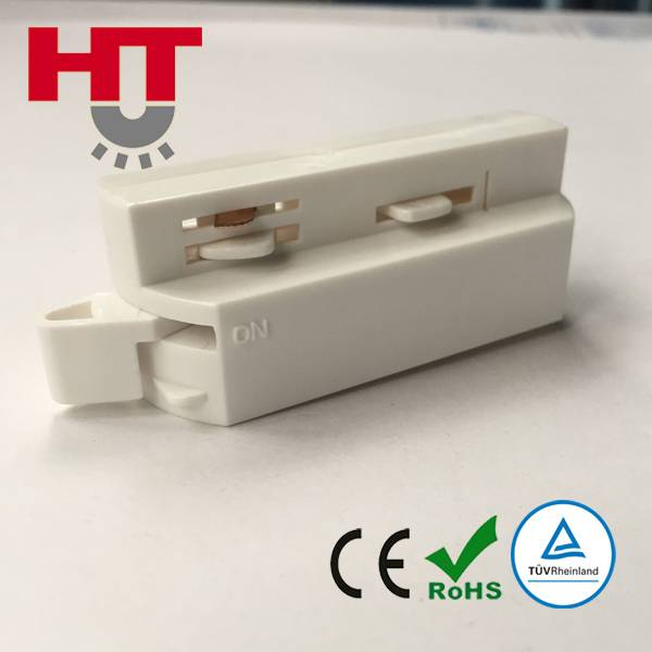 3 Wires Single Circuit Track Adapter for Spotlight Track Bar with CE