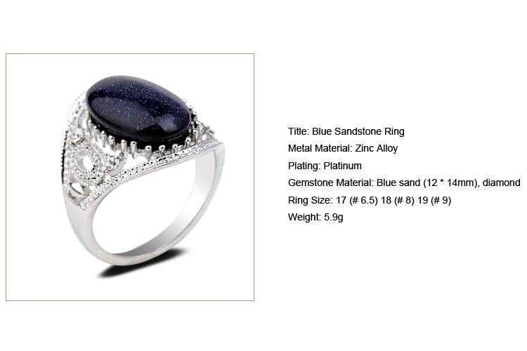 Blue Sandstone Ring /CT-R0004