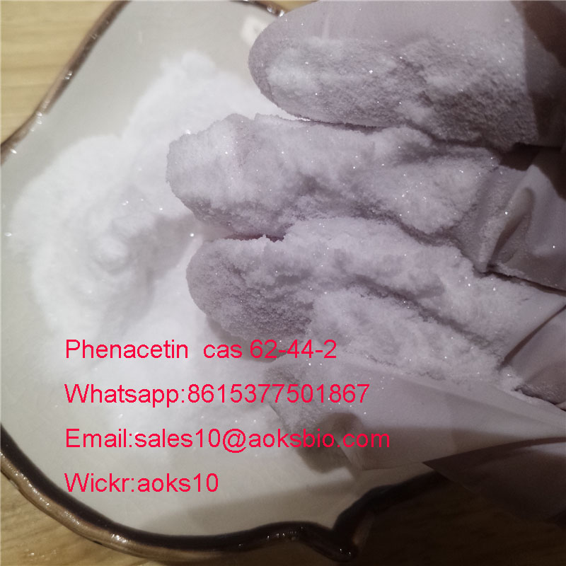 shiny crystal powder Phenacetin cas 62-44-2 china factory fast delivery safe clearence