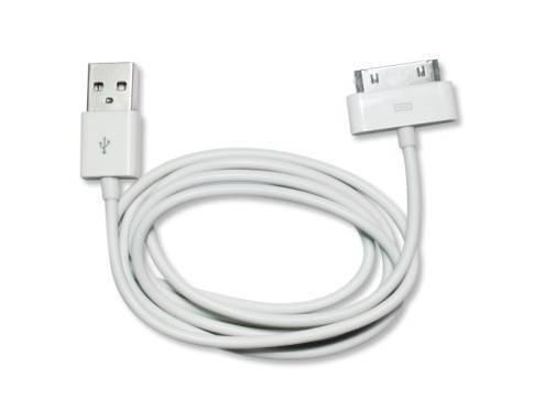 USB Cable for iPhone 5, iPhone 4, iPhone 3GS/3G, iPad 2/iPad, iPod Touch , Length: 1-3m (White)