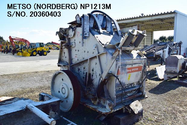 "USED METSO ""NORDBERG"" MODEL NP1213M IMPACT CRUSHER S/NO. 20360403"
