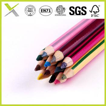 middle lead color pencil in standard colored with EN71,SGS,FSC, ASTM certificate
