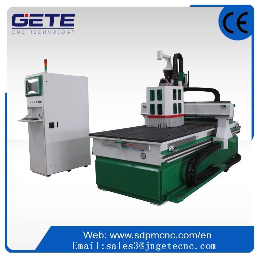 Jinan panel furniture machine /cutting slotting drilling cnc router