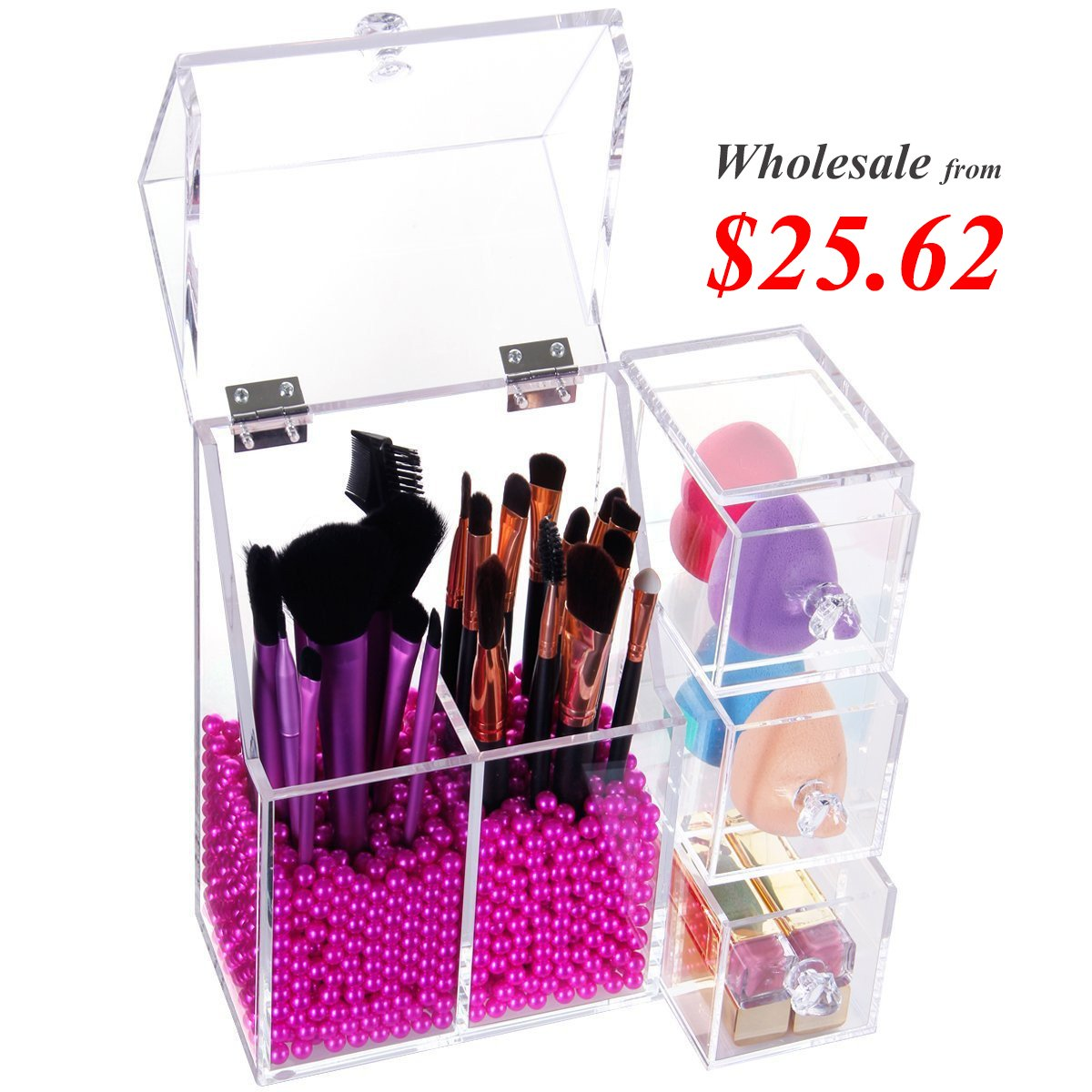 Lifewit Acrylic All In One Makeup Organizer