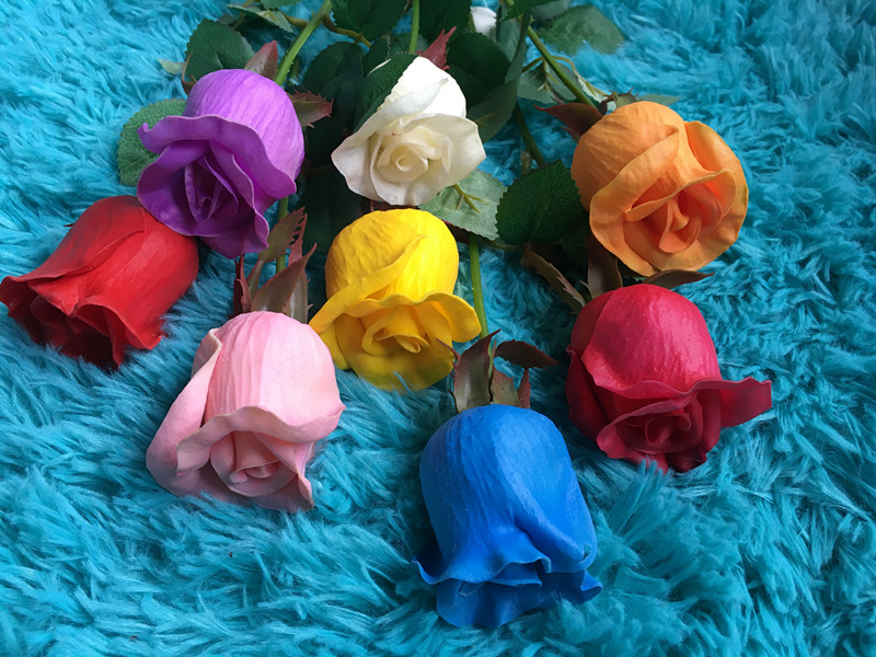 PU Rose Artificial Flowers Real Touch rose Flowers, for Home Wedding Party Decoration