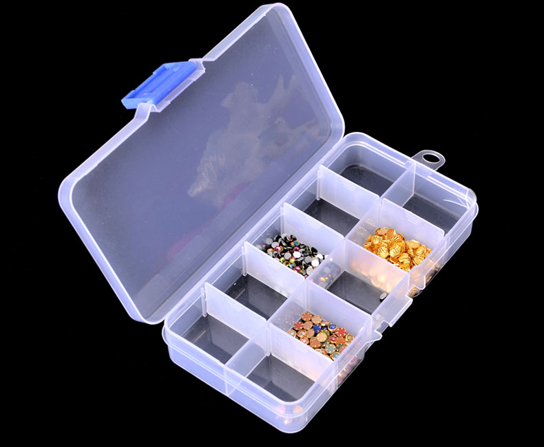 RISESUN 10/15 Slots DIY Divider Container Removable Storage box