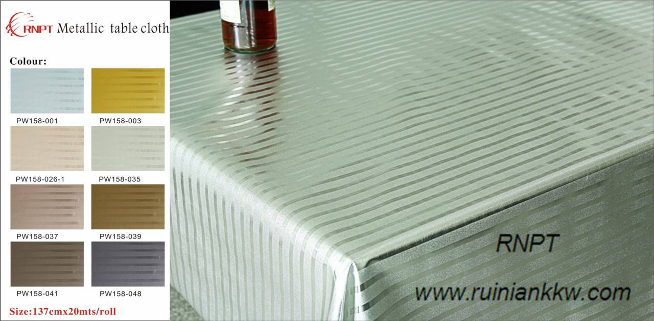 RNPT Metallic table cloth