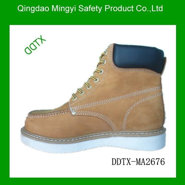 Oil resistant waterproof goodyear welt safety shoes