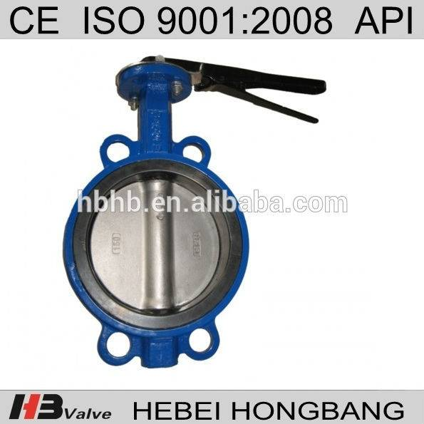 Wafer Type One Half Shaft Butterfly Valve Without Pin
