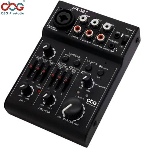 MX-3BT 3 Channel USB Mixer with Bluetooth