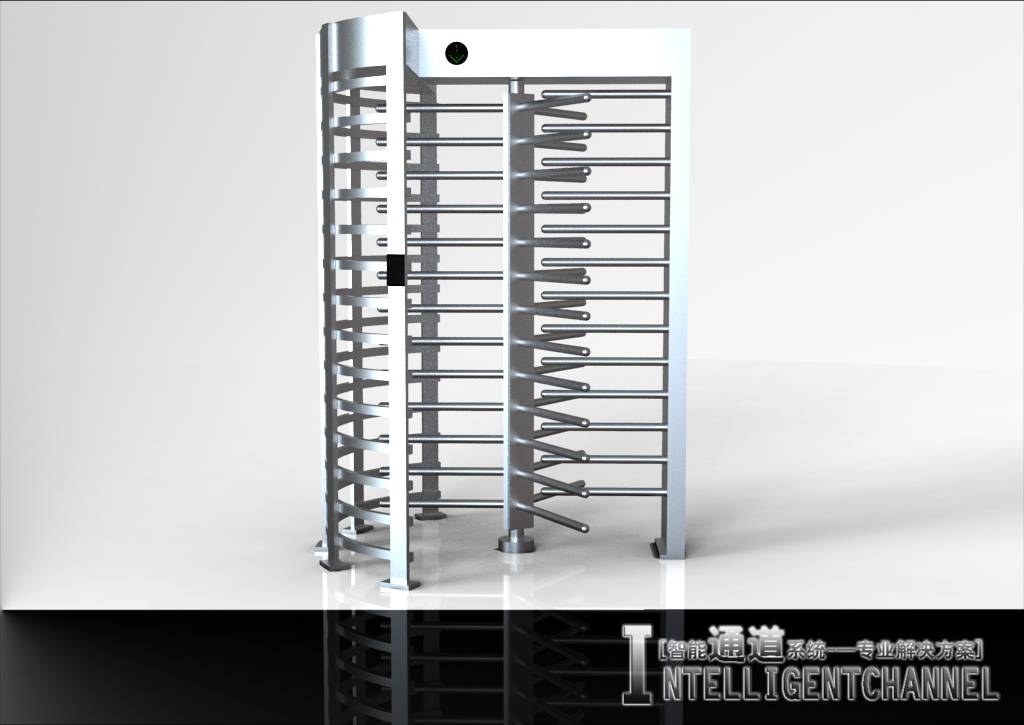 Automatic Pedestrian Access Control Full Height Rotating Turnstile