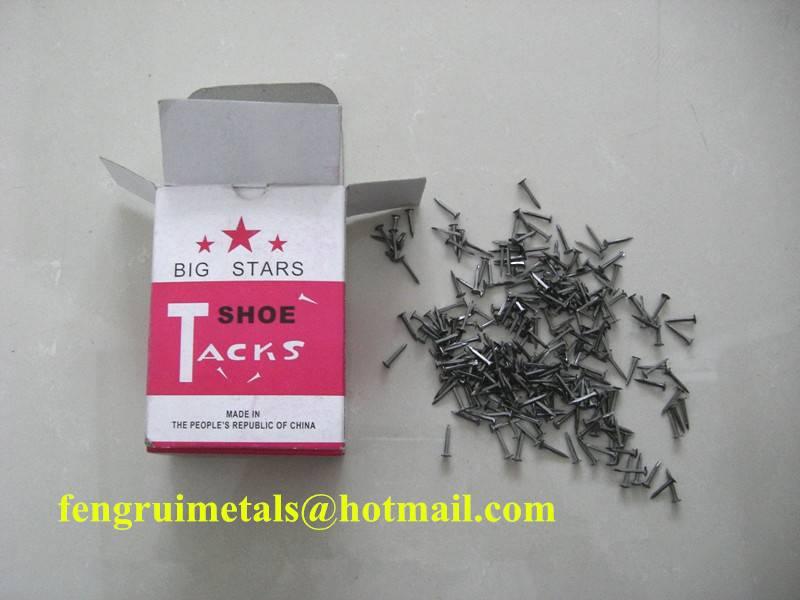 Big Star brand fine white shoe tack nails