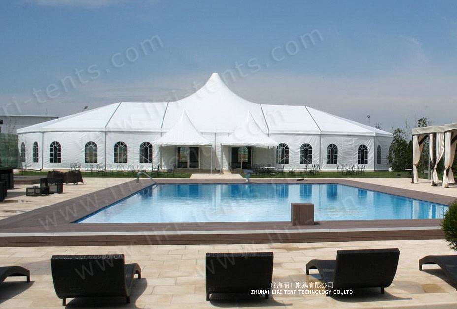 1000 seater outdoor high peak tent catering hotel tent for sale