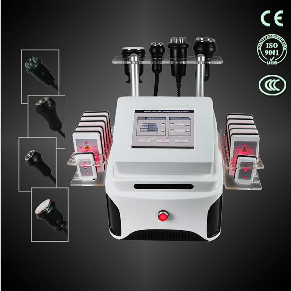 salon use lipo laser/multipolar rf/cavitation /body vacuum machine