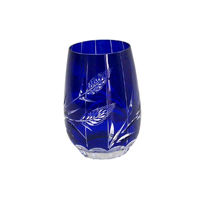 2019 fashionable cobalt blue glass cup for decoration and drinking