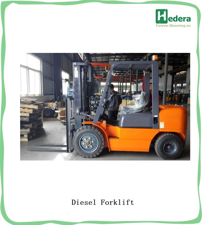 3.5ton diesel hydraulic forklift truck CPCD35 with CE certification