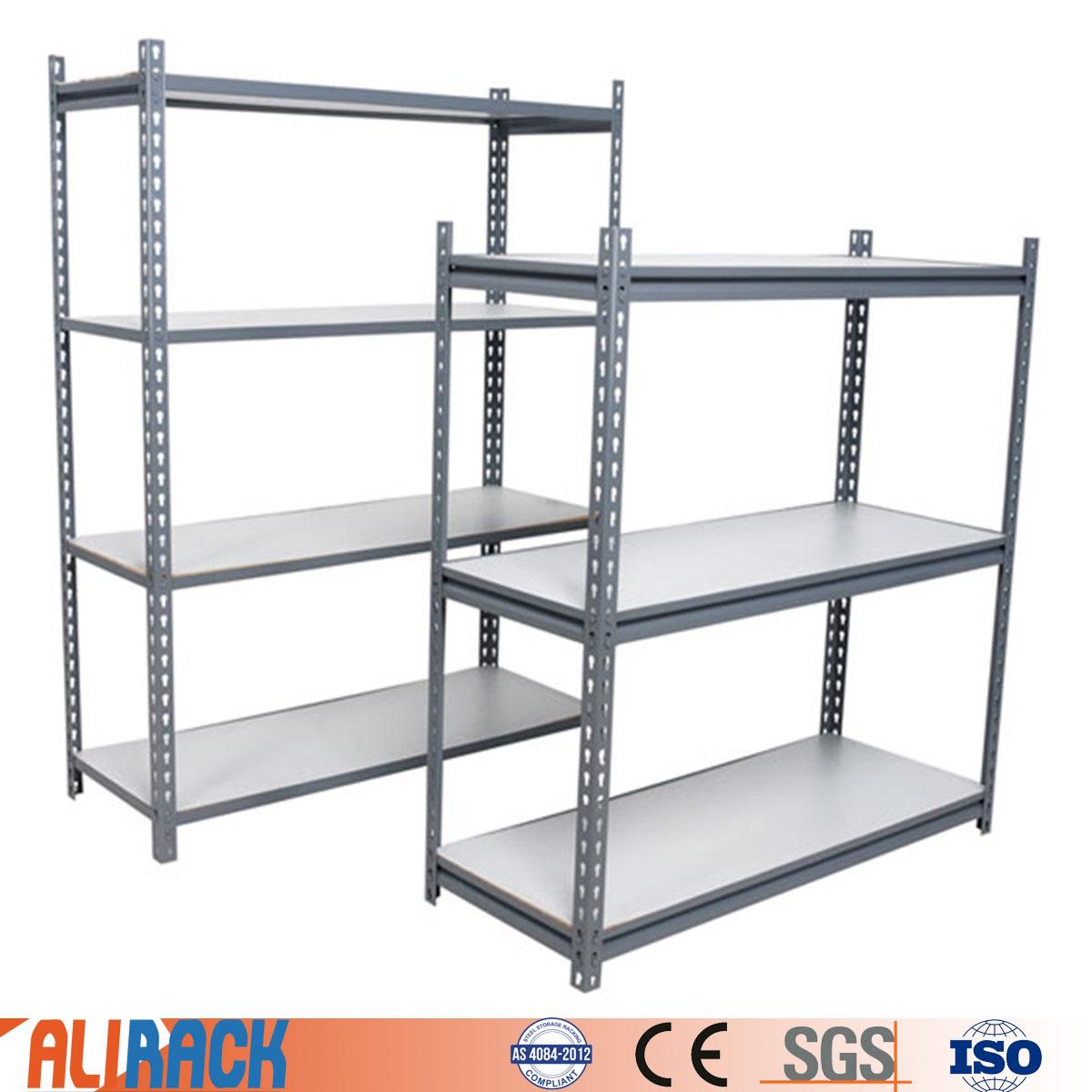 ALI RACKING Light duty shelving racking Boltless Rivet Shelving Adjustable Metal Storage Shelving Ra