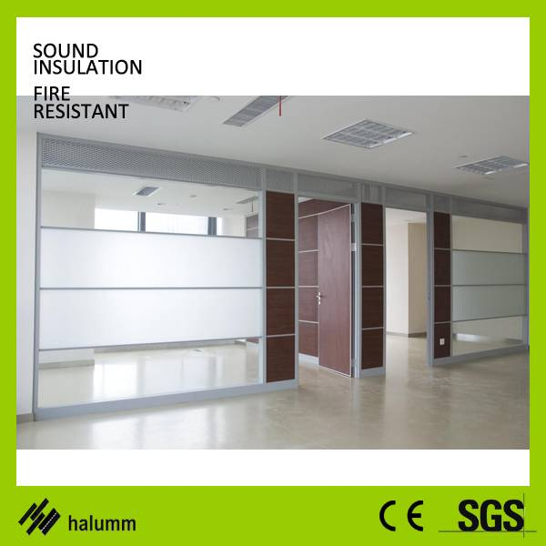 Single Panel Office Partition double glass partition wall office system glass wall