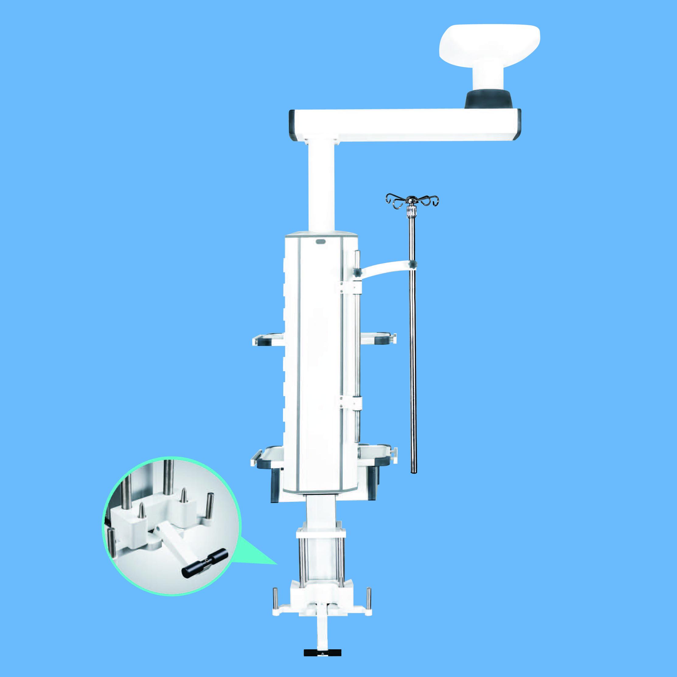 Ceiling Mount Single Arm Motorized Anesthesia Medical Pendant