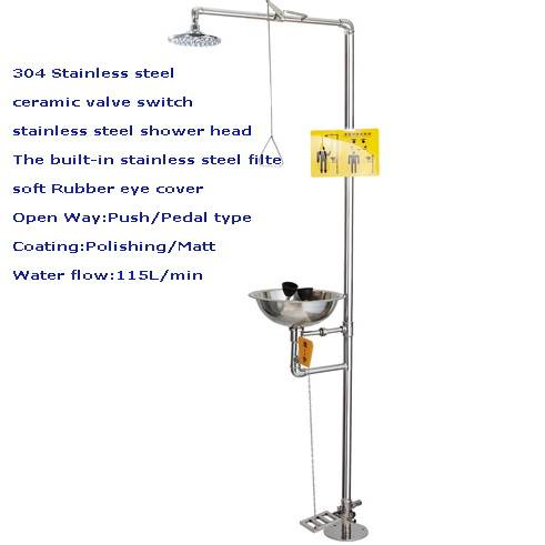 laboratory safety furniture accessories full body emergency shower