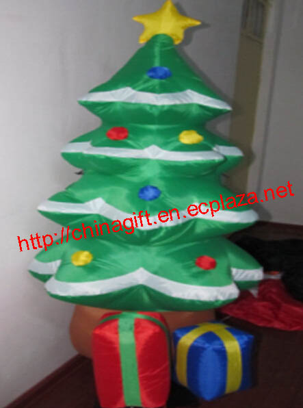 1.2M Inflatable Decorated Christmas Tree with Gifts Lawn Decoration