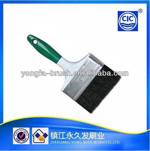 Double Colors Nice Big Stainless Iron Ferrule Plastic Handle Paint Brush