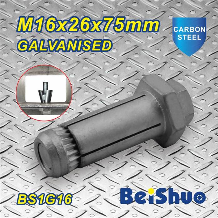 Made in China Anchor Bolt M16X26X75mm galvanized screw anchor bolt
