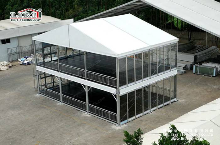 Hot Sale Clear tent / Double Decker Tent / Two Floor Tent With Flooring