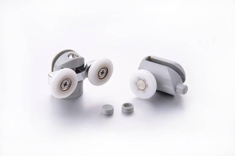 Single and Double plastic shower door rollers