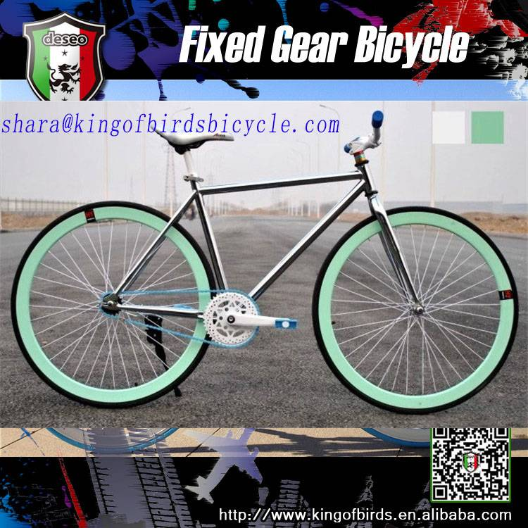 flaring single speed fixie bike flip-flop hub fixed gear bike electroplate painting road bike lumino