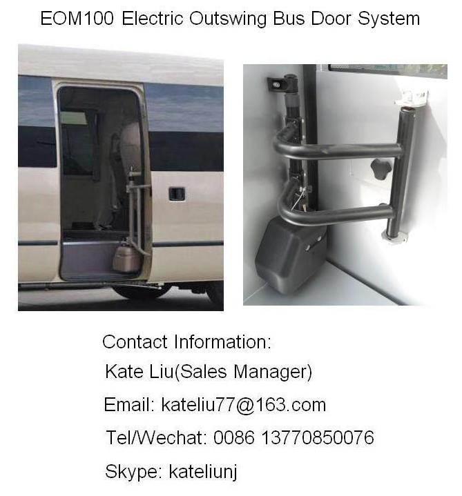 Electrical outswing/rotary plug bus door system for bus and coach,electrical plug door(EOM100)