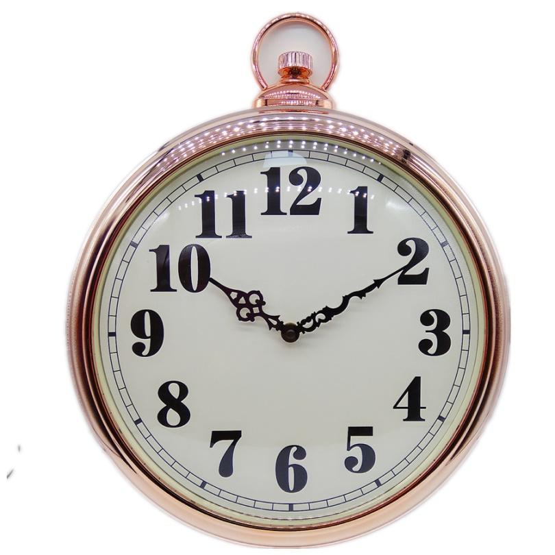 13 inch High quality pocket watch plastic quartz wall clock with Roman digits