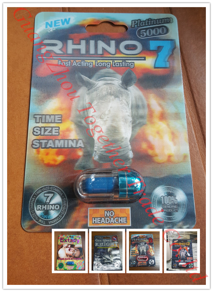 RHINO 7 5000 Platinum 3D Male Sexual Enhancer Capsule GENUINE
