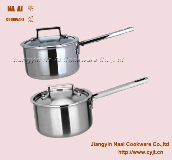 Saucepan with  Hollow Cast  Handle