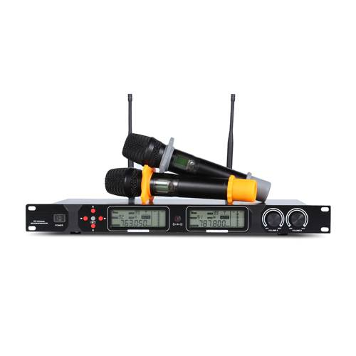Professional UHF Wireless Microphone Dr-30 LCD Display Dual-Channel