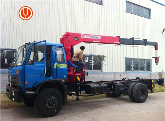 best price 10 ton straight boom crane with truck for sale