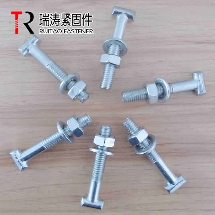 British Type Grade 8.8 T bolt use for scaffolding coupler / scaffolding clamp bolts