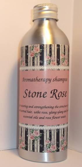"Organic and regenerating aromatherapy shampoo ""Stone Rose"""