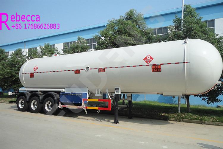 Vacuum insulated 25 tons 59.7cbm lpg gas tank semi trailer for sale