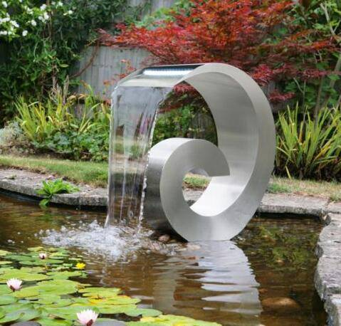 Stainless steel waterfall spillway