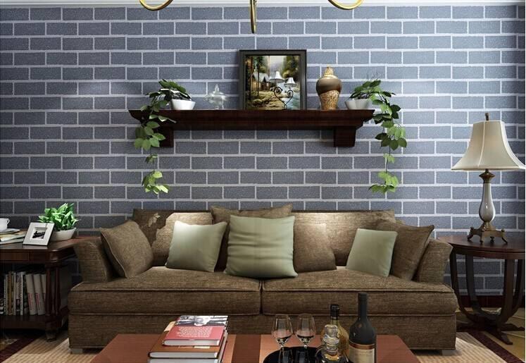 PVC Wall paper 3D Deep Embossed Brick Stone Designs Wallpaper