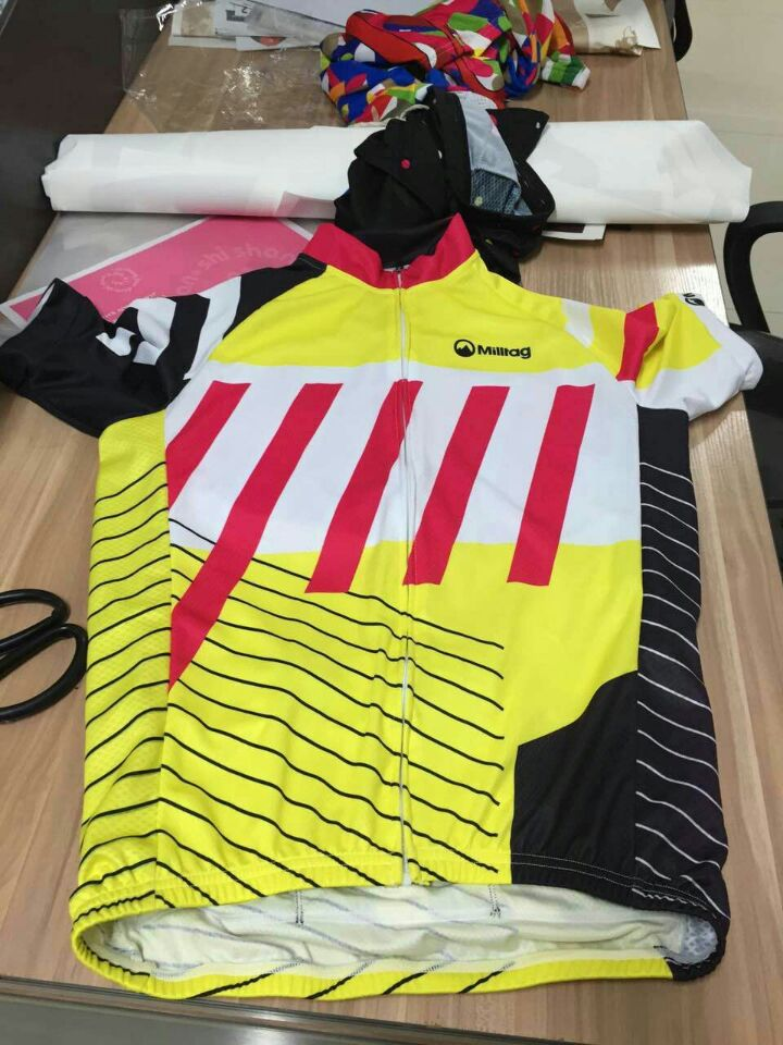 2017 Wholesale Sublimation cycling wear