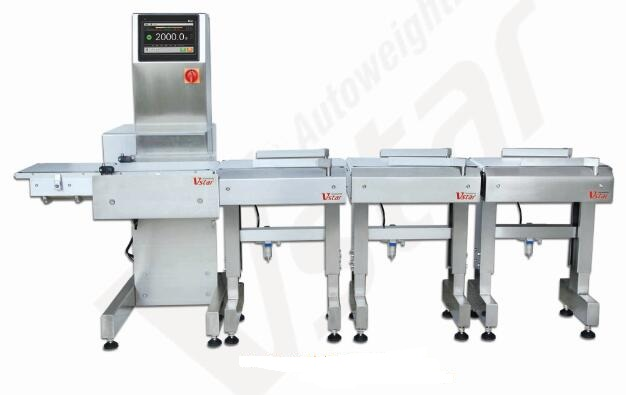 beef sorting machine meat conveyor belt check weigher